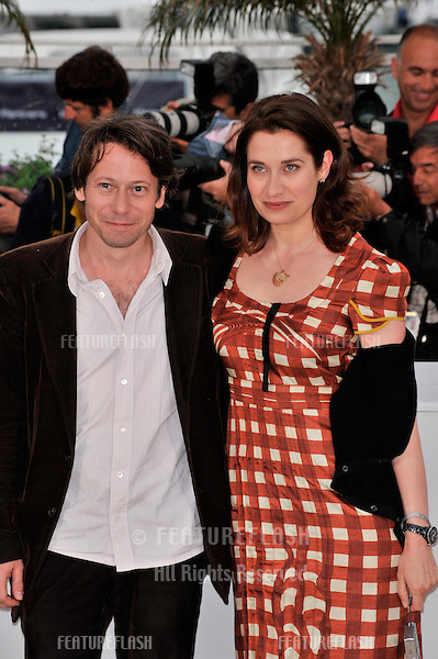 """Emmanuelle Devos & Mathieu Amalric at the photocall for their new movie """"Un Conte de Noel"""" (""""A Christmas Tale"""") at the 61st Annual International Film Festival de Cannes..May 16, 2008  Cannes, France..Picture: Paul Smith / Featureflash"""