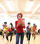 Michelle Williams & ensemble cast rehearsing for the touring company of 'FELA!'  at the Pearl Studios in New York City on 1/23/2013