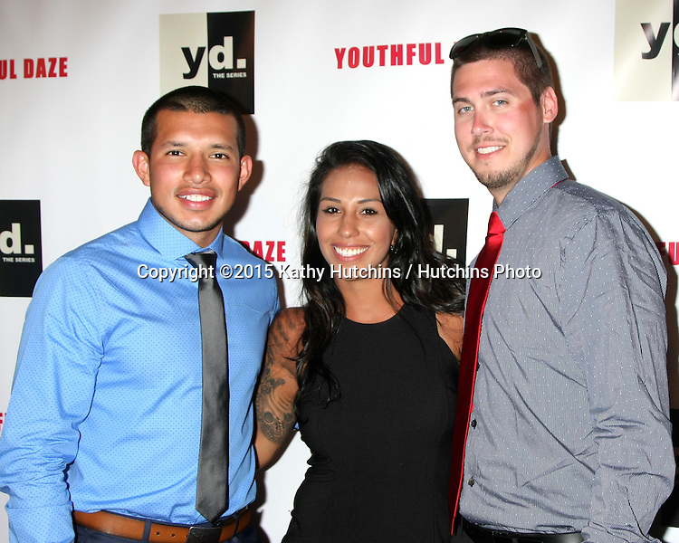 "LOS ANGELES - JUL 22:  Javi Marroquin, Gigi Hanna, Jeremy Calvert at the ""Youthful Daze"" Season 4 Premiere Party at the Bugatta Supper Club on July 22, 2015 in Los Angeles, CA"