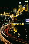 The Bund at night, city lights in Shanghai, China, Asia