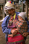 Karen tribe mother and daughter