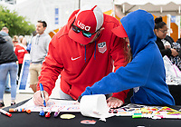 Houston, TX - Sunday April 08, 2018: Fans during an International Friendly soccer match between the USWNT and Mexico at BBVA Compass Stadium.