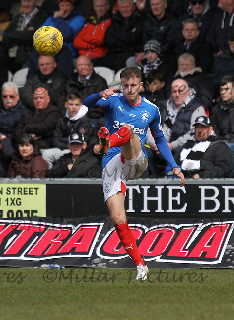 Andy Halliday in the St Mirren v Rangers Scottish Professional Football League Ladbrokes Championship match played at the Paisley 2021 Stadium, Paisley on 1.5.16.