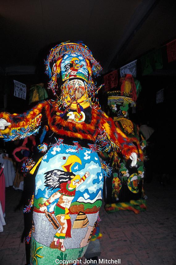 Chinelo folk dancer performing in Cuernavaca, Morelos, Mexico