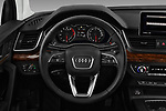 Car pictures of steering wheel view of a 2018 Audi Q5 Design 5 Door SUV