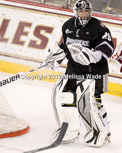 Justin Gates (PC - 29) - The Boston College Eagles defeated the Providence College Friars 7-0 on Saturday, February 25, 2012, at Kelley Rink at Conte Forum in Chestnut Hill, Massachusetts.
