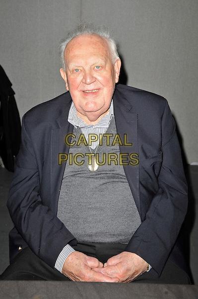 Joss Ackland.The Entertainment Media Show, Olympia Grand Hall, Kensington, London, England. .7th October 2012.half length black suit jacket grey gray top.CAP/MAR.© Martin Harris/Capital Pictures.