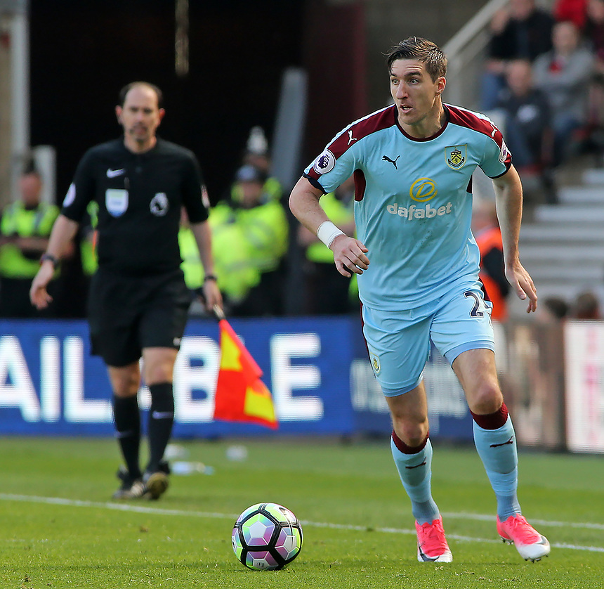 Burnley's Stephen Ward in action<br /> <br /> Photographer David Shipman/CameraSport<br /> <br /> The Premier League - Middlesbrough v Burnley - Saturday 8th April 2017 - Riverside Stadium - Middlesbrough<br /> <br /> World Copyright &copy; 2017 CameraSport. All rights reserved. 43 Linden Ave. Countesthorpe. Leicester. England. LE8 5PG - Tel: +44 (0) 116 277 4147 - admin@camerasport.com - www.camerasport.com