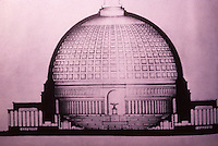 "Nazi Art: The Volkhalle, Berlin.  ""A German Pantheon-- presumably for the worship of Hitler alone. The largest of the planned  ""People's  Halls"" for every city.  Reference only."