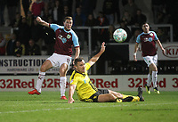 Burnley's Chris Wood gets a shot on goal<br /> <br /> Photographer Mick Walker/CameraSport<br /> <br /> The Carabao Cup Round Three   - Burton Albion  v Burnley - Tuesday  25 September 2018 - Pirelli Stadium - Buron On Trent<br /> <br /> World Copyright &copy; 2018 CameraSport. All rights reserved. 43 Linden Ave. Countesthorpe. Leicester. England. LE8 5PG - Tel: +44 (0) 116 277 4147 - admin@camerasport.com - www.camerasport.com