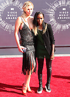 LOS ANGELES, CA, USA - AUGUST 24: Ireland Baldwin, Angel Haze at the 2014 MTV Video Music Awards held at The Forum on August 24, 2014 in the Los Angeles, California, United States. (Photo by Xavier Collin/Celebrity Monitor)