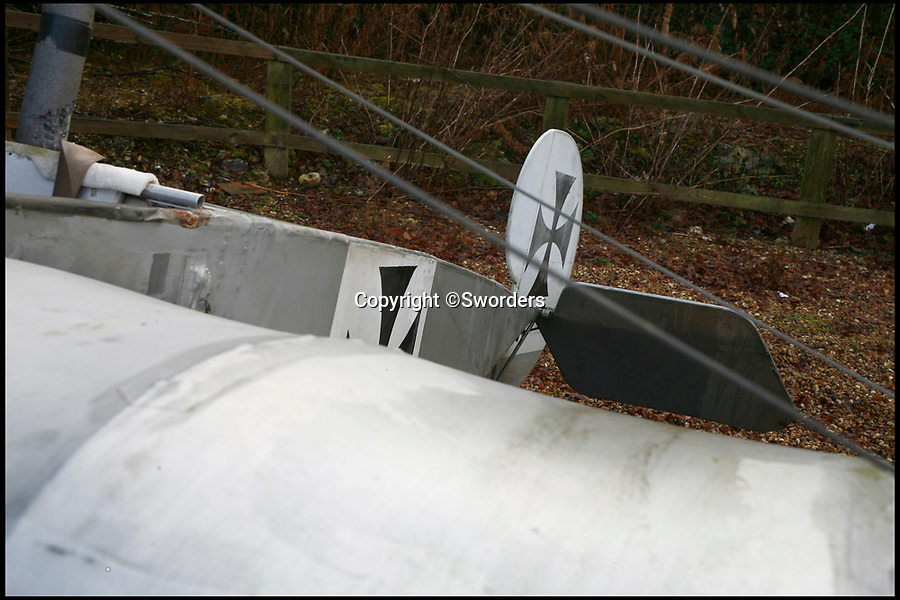 BNPS.co.uk (01202 558833)<br /> Pic: Sworders/BNPS<br /> <br /> The silver and black Fokker Eindecker E111.<br /> <br /> A remarkable near life-size model of a German First World War plane which was built by an engineer in his back garden has emerged for sale.<br /> <br /> The silver and black Fokker Eindecker E111 has been fitted with a Reliant Robin engine and can be taxied, although it can not fly.<br /> <br /> Tragically, its creator Ian Brewster was killed in a light aircraft crash in a field in north Hertfordshire last June.<br /> <br /> The 17ft long plane with a 28ft wingspan is now being sold by his family.