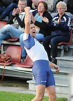 FIERLJEPPEN: IT HEIDENSKIP: 06-07-2016, 1e klasse Fierljeppen, nieuw Nederlands/Wereld record Bart Helmholt 21.64m, ©foto Martin de Jong