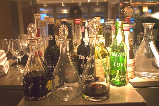 Liquor Bottles, La Trompete Restaurant, London, England