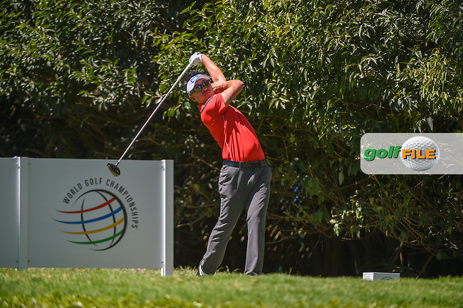 Sanghyun Park (KOR) watches his tee shot on 2 during round 1 of the World Golf Championships, Mexico, Club De Golf Chapultepec, Mexico City, Mexico. 2/21/2019.<br /> Picture: Golffile | Ken Murray<br /> <br /> <br /> All photo usage must carry mandatory copyright credit (© Golffile | Ken Murray)