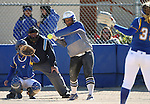 Western Nevada's Briauna Carter hits against Salt Lake Community College at Edmonds Sports Complex in Carson City, Nev., on Friday, April 15, 2016. <br />Photo by Cathleen Allison