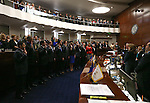 Freshman and re-elected state Senators take the oath of office during opening day ceremonies at the Legislative Building in Carson City, Nev., on Monday, Feb. 2, 2015. (Cathleen Allison/Las Vegas Review-Journal)