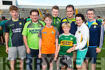 Kerry Fans at the Kerry v Kildare championship clash on Saturday evening at Fitzgerald stadium, from left: Oisin, Diarmuid, Thade, Darragh, Shane, Declan, Tadhg and Maura Shanahan (Milltown).