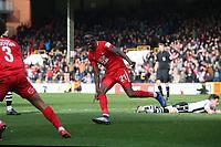 O's Marvin Ekpiteta scores and celebrates during Leyton Orient vs Wrexham, Vanarama National League Football at The Breyer Group Stadium on 9th March 2019