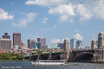 Tour boats on the Charles River on a summer afternoon, Boston, MA, USA
