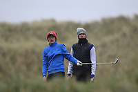 Brandon St.John (Portmarnock) and Paul Costello (Cregmore Park) on the 13th tee during Round 2 of the Ulster Boys Championship at Portrush Golf Club, Portrush, Co. Antrim on the Valley course on Wednesday 31st Oct 2018.<br /> Picture:  Thos Caffrey / www.golffile.ie<br /> <br /> All photo usage must carry mandatory copyright credit (&copy; Golffile | Thos Caffrey)