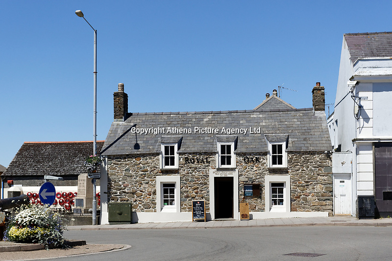 Pictured: The Royal Oak pub in Fishguard. Thursday 28 June 2018<br /> Re: The bell of St Mary's Church in the town of Fishguard will not be ringing on Sunday morning in west Wales, UK.