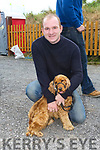 Enjoying the  6th annual Mid Kerry Vintage Rally in Castlemaine were John Paul Cronin with Lady the Dog from Beaufort
