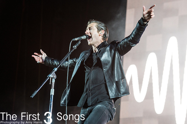 Alex Turner of Arctic Monkeys performs at the Outside Lands Music & Art Festival at Golden Gate Park in San Francisco, California.