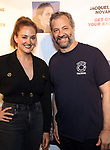 "Jacqueline Novak and  Judd Apatow attends the Off-Broadway Opening Night of ""Jacqueline Novak: Get On Your Knees"" at the Cherry Lane Theatre on July 22, 2019 in New York City."