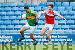 Paul O'Donoghue South Kerry in action against Mikey Boyle Dingle in the Quarter Final of the Kerry Senior County Championship at Austin Stack Park on Sunday.