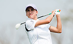 CHON BURI, THAILAND - FEBRUARY 16:  Belen Mozo of Spain tees off on the 16th hole during day one of the LPGA Thailand at Siam Country Club on February 16, 2012 in Chon Buri, Thailand.  Photo by Victor Fraile / The Power of Sport Images