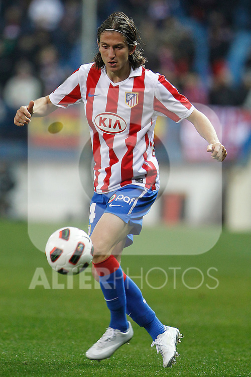 Atletico de Madrid's Filipe Luis during La Liga match.March 5,2011. (ALTERPHOTOS/Acero)