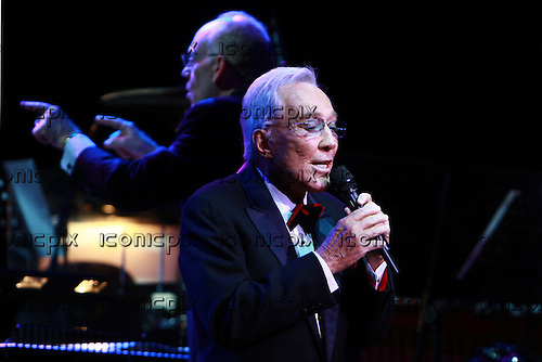 Andy Williams - performing live at the Royal Albert Hall in London UK - 05 Oct 2009.  Photo by: Zaine Lewis/IconicPix