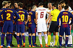 UEFA Champions League 2017/2018.<br /> Quarter-finals 1st leg.<br /> FC Barcelona vs AS Roma: 4-1.