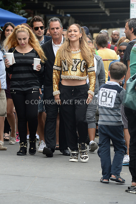 WWW.ACEPIXS.COM<br /> September 8, 2014 New York City<br /> <br /> Jennifer Lopez on set for Fat Joe video in New York City on September 8 , 2014.<br /> <br /> By Line: Kristin Callahan/ACE Pictures<br /> ACE Pictures, Inc.<br /> tel: 646 769 0430<br /> Email: info@acepixs.com<br /> www.acepixs.com