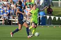 Kansas City, MO - Saturday June 25, 2016: Yael Averbuch, Kim Little during a regular season National Women's Soccer League (NWSL) match at Swope Soccer Village.