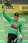 Mike Theunison (BEL) Team Jumbo-Visma wins Stage 1 and wears the first leaders Yellow Jersey and also the points Green Jersey of the 2019 Tour de France running 194.5km from Brussels to Brussels, Belgium. 6th July 2019.<br /> Picture: Colin Flockton | Cyclefile<br /> All photos usage must carry mandatory copyright credit (© Cyclefile | Colin Flockton)