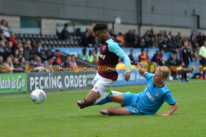 west ham jahmal hector-ingram during Barnet vs West Ham United, Friendly Match Football at the Hive Stadium on 15th July 2017