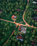 SRI LANKA, Asia, aerial view of Dambulla with houses and road
