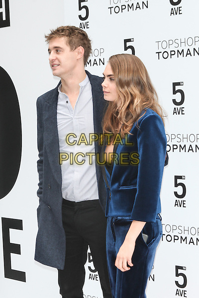 NEW YORK - November 5:  Max Irons and Cara Delevingne  attend the Topshop Topman New York City Flagship Grand Opening on November 5, 2014 in New York City. <br /> CAP/MPI/MPI99<br /> &copy;MPI99/MPI/Capital Pictures