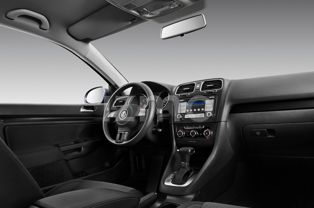 Low angle dashboard view of a 2010 Volkswagen Jetta SportWagen S