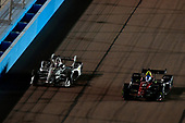 Josef Newgarden, Team Penske Chevrolet passes Robert Wickens, Schmidt Peterson Motorsports Honda for the lead