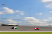 #18: Daniel Suarez, Joe Gibbs Racing, Toyota Camry Juniper Networks, #01: Vinnie Miller, JD Motorsports, Chevrolet Camaro Gerber Collision & Glass