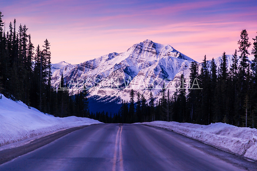 Sunrise over Icefields Parkway.<br />