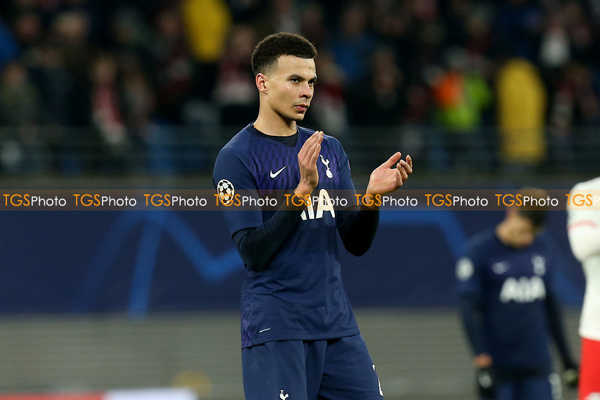 A tearful looking Dele Alli of Tottenham Hotspur after RB Leipzig vs Tottenham Hotspur, UEFA Champions League Football at the Red Bull Arena on 10th March 2020