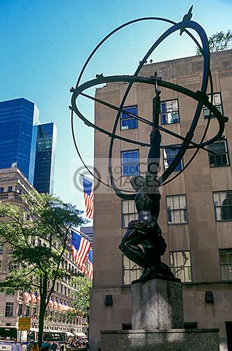 ATLAS STATUE CENTER FIFTH AVENUE MANHATTAN NEW YORK CITY USA