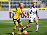 20190810 - ANDERLECHT, BELGIUM : Anderlecht's Sarah Wijnants (right) pictured defending on LSK's Emilie Woldvik (left) during the female soccer game between the Belgian RSCA Ladies – Royal Sporting Club Anderlecht Dames  and the Norwegian LSK Kvinner Fotballklubb ladies , the second game for both teams in the Uefa Womens Champions League Qualifying round in group 8 , saturday 10 th August 2019 at the Lotto Park Stadium in Anderlecht  , Belgium  .  PHOTO SPORTPIX.BE for NTB NO | DAVID CATRY