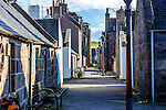 Traditional houses in Footdee, Aberdeen.<br /> <br /> Image by: Malcolm McCurrach<br /> Sun, 1, March, 2015 |  © Malcolm McCurrach 2015 |  All rights Reserved. picturedesk@nwimages.co.uk | www.nwimages.co.uk | 07743 719366