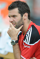 DC United assistant coach Ben Olsen.   DC United defeated Chivas USA 3-2 at RFK Stadium, Saturday  May 29, 2010.