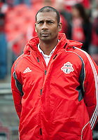 22 October 2011: Toronto FC head coach Aron Winter during the national anthems in a game between the New England Revolution and Toronto FC at BMO Field in Toronto..The game ended in a 2-2 draw.